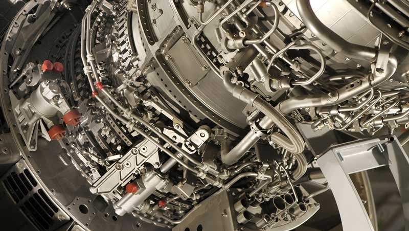 Aircraft engine parts detail